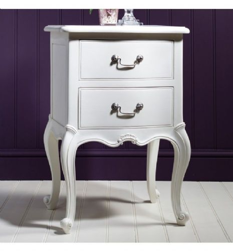 Chic Bedside in Vanilla White